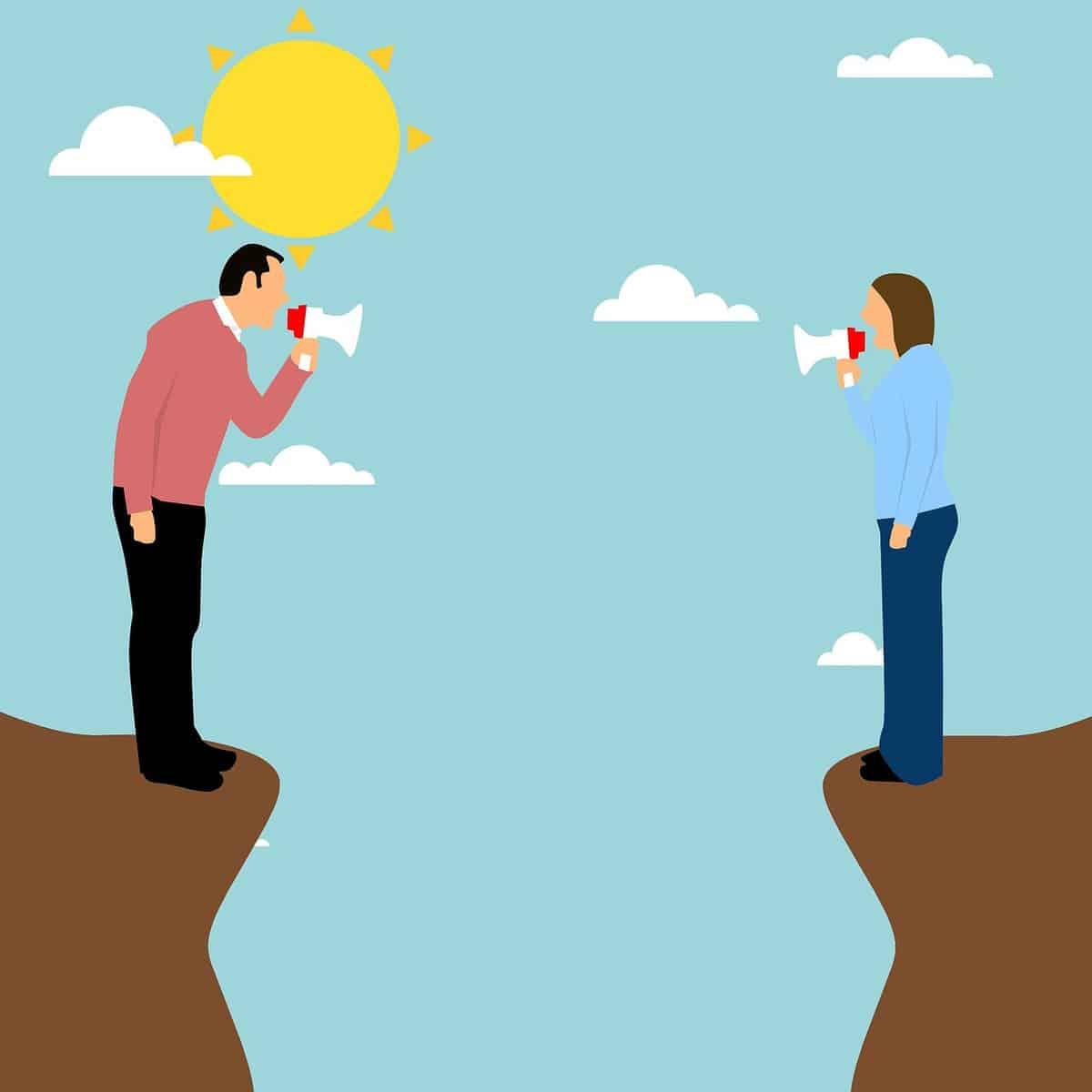 צעקות בין בני זוג