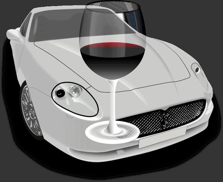 רכב וכוס שתייה